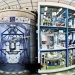XENON1T installation in the underground hall of Laboratori Nazionali del Gran Sasso. The three story building houses various auxiliary systems. The cryostat containing the LXeTPC is located inside the large water tank next to the building. Photo by Roberto Corrieri and Patrick De Perio.""
