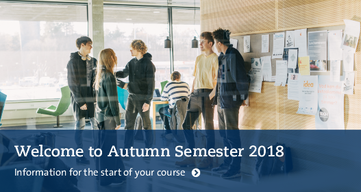Welcome to Autumn Semester 2018