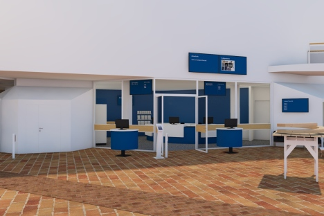 Illustration service desk, with reservation for changes. Illustration: 2BK Arkitekter.