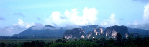 Krabi's beautiful karst topography.