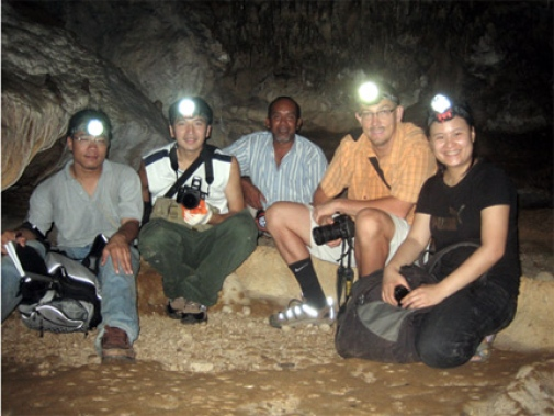 Our Team in one of the caves