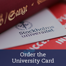 The university card and a stack of books