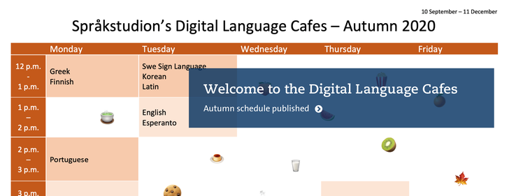Digital Language Cafes Autumn 2020