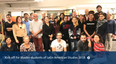 Kick-off for Master students of Latin American Studies 2018