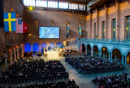 The inauguration and conferment ceremony in the Stockholm City Hall 2018. Photo: Ingmarie Andersson