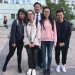 Jilin University president Li Yuanyan  was happy to meet exchange students from his university.