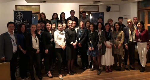 Alumni mingle in Shanghai on October 26, 2018.