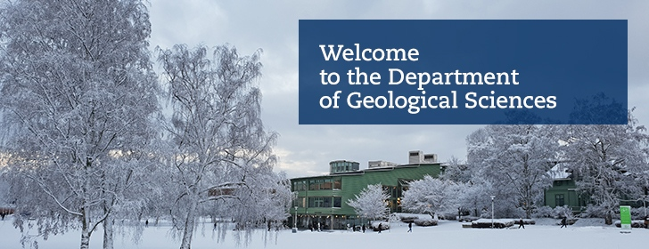 Welcome to the department of geological sciences