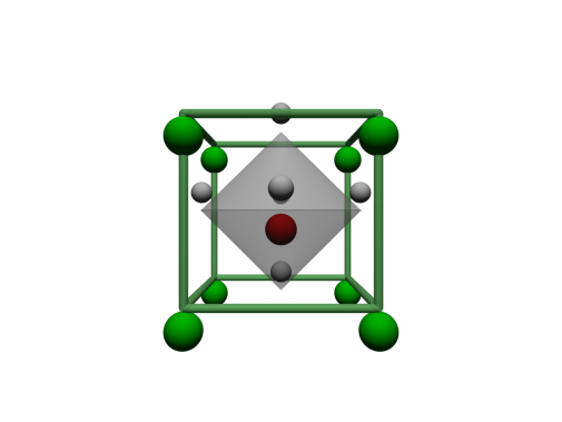 Schematic of the unit cell of SrTiO3. Illustration: Stefano Bonetti