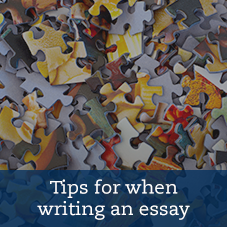 Text: Tips for when writing an essay
