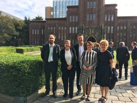 President of Stockholm University Astrid Söderbergh Widding visited Tokyo.