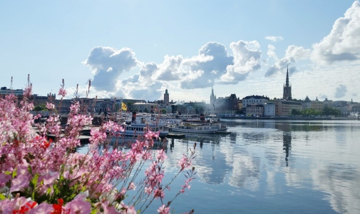 A waterside view of Stockholm
