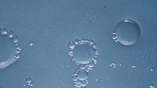 Bubbles found in sea spray generated in the lab. Photo: Matt Salter