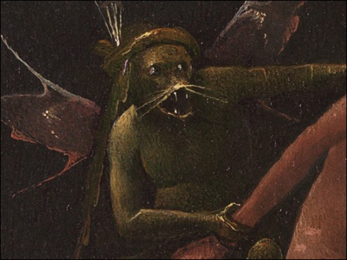 Jheronimus Bosch, The River to Hell (detail). Museo di Palazzo Grimani, Venice. Photo: BRCP