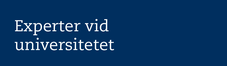 Blå platta med text Experter vid universitetet
