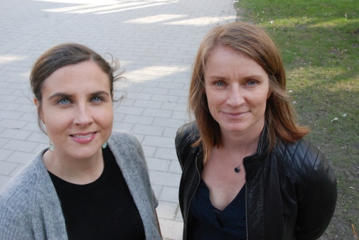 Ilona Riipinen, ACES, and Annica Ekman, MISU. Photo: Annika Hallman