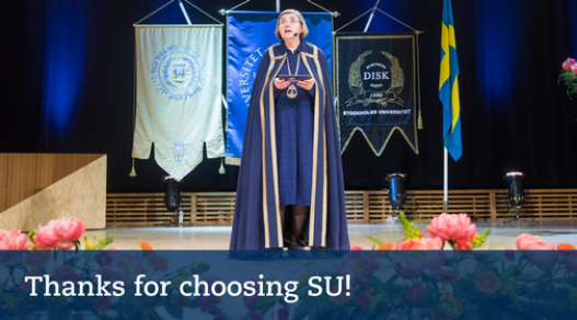 Thanks for choosing SU! Photo: Niklas Björling