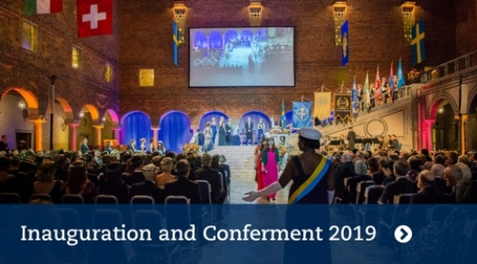 Inauguration of new professors and conferment of doctoral degrees. Photo: Ingmarie Andersson