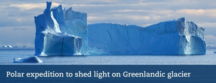 Polar expedition to shed light on Greenlandic glacier. Photo: Martin Jakobsson.