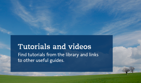 Tutorials and video in the background a meadow