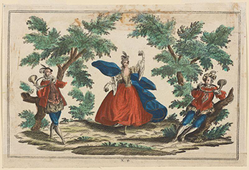 Anonym bokillustration ca 1750, New York Public Library