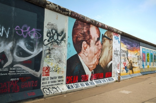 Berlin Wall with grafitti