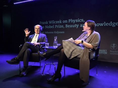 Nobel Laureate Frank Wilczek and host Johanna Koljonen