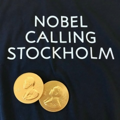 Staff from the Nobel Prize Museum were on hand to give out Nobel medals – of the chocolate variety.