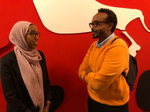 Deeqa Odaway and Abukar Omarsson exchange experiences