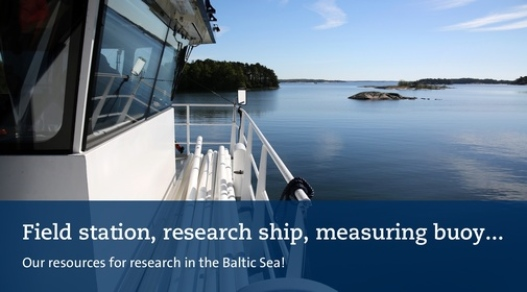 our research for marine research: research ship, measuring bouy and field station