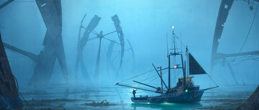 Radical Ocean Futures. Illustration: Simon Stålenhag