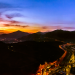 30424600-sunset-scene-santiago-de-chile-aerial-view