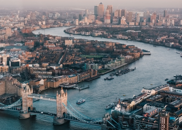 Aerial Photography of London skyline Photo by Benjamin Davies on Unsplash