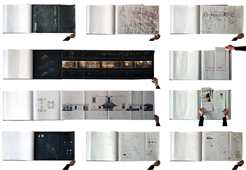 Photographs of pages from the Atlas of Athenian Inscriptions (Bound book). © Konstantinos Avramidis