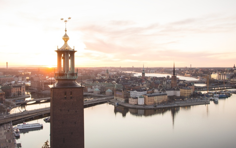 View of Stockholm City Hall. Sweden Image Bank, Photo: Björn Olin