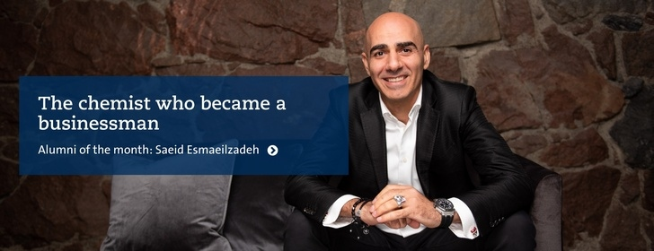 Alumni Saeid Esmaeilzadeh – The chemist who became a businessman. Photo: Tommy Fondelius