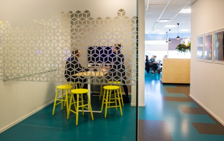 Inside Nodhuset at the Kista campus. Photo: Ingmarie Andersson