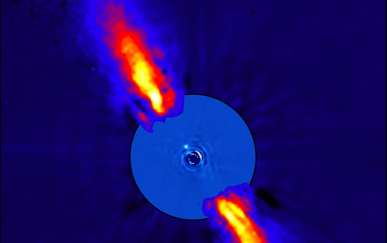 Infrared image of Beta Pictoris.