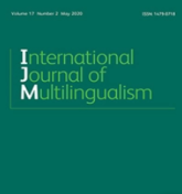 Cover of Internationa Journal of Bilingualism 2020