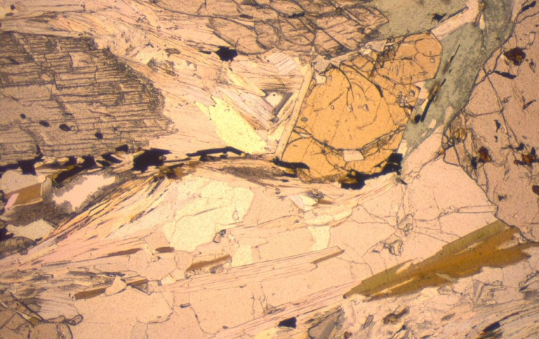 Microscopic view of minerals