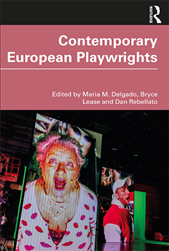 The cover of Contemporary European Playwrights (Routledge, 2020).