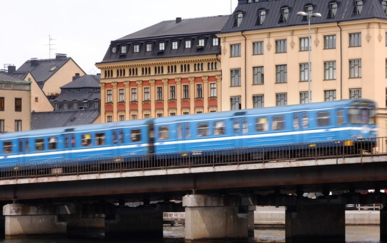 Metro train in Stockholm. Photo: Unknown