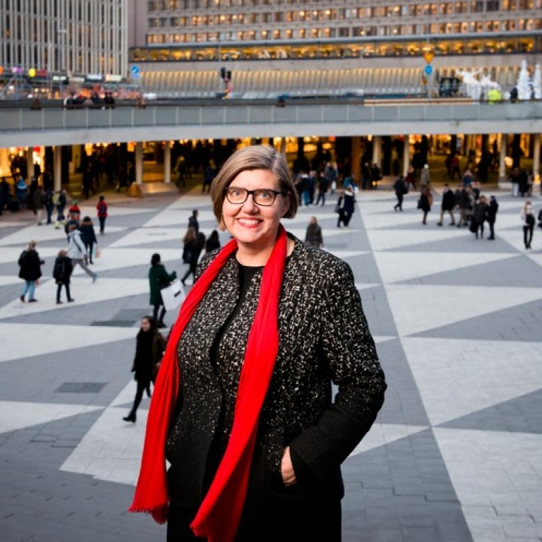 Astrid Söderbergh Widding, President of Stockholm University. Photo:Eva Dalin