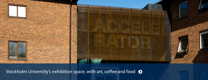 The entrance of the exhibition hall Accelerator is situated right next to our Department.