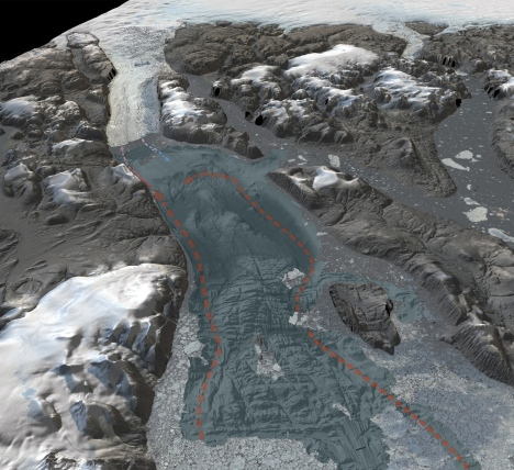 3D-visualization showing the seafloor bathymetry of the previously uncharted Sherard Osborn