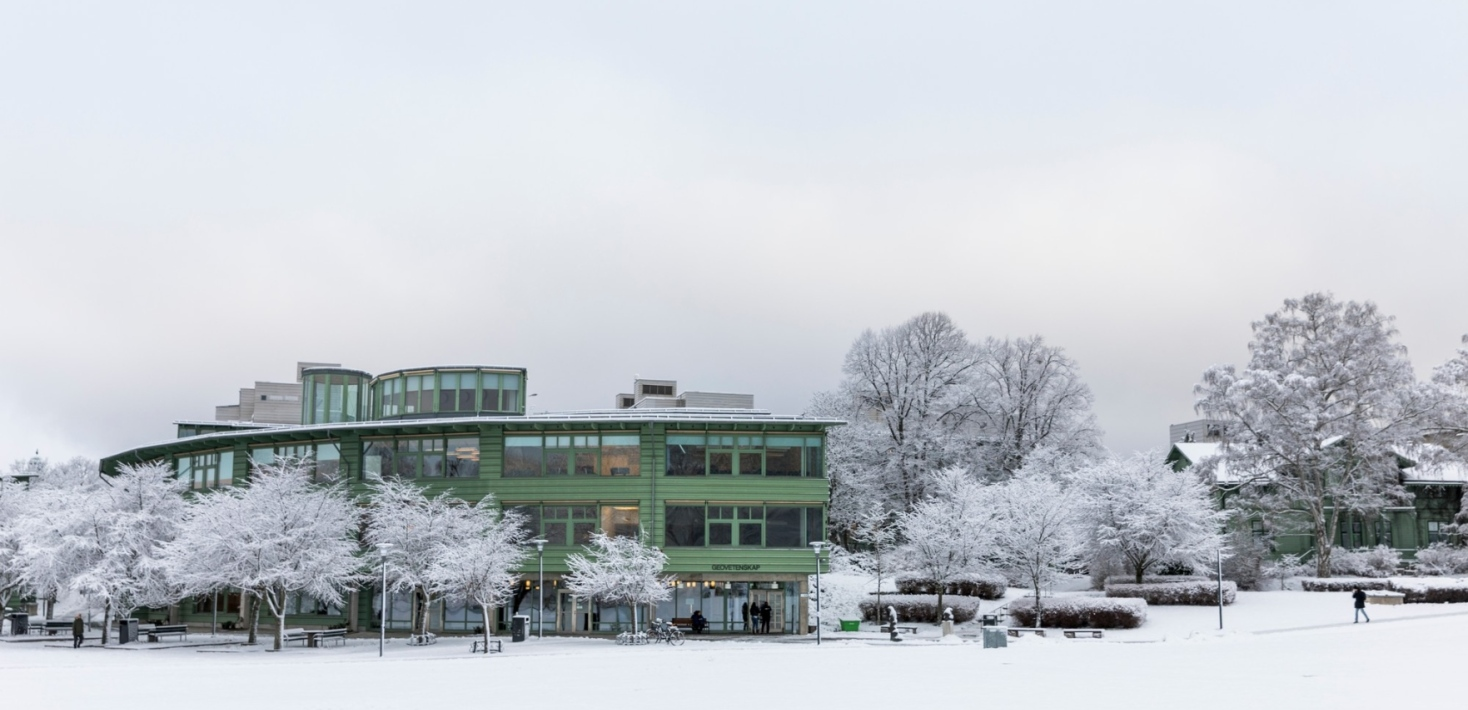 Geovetenskapens hus in winter. Photo: Niklas Björling
