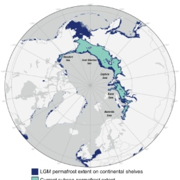Globe with the arctic and surroundings
