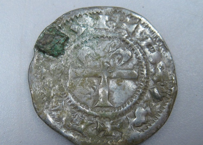 The coin from Normandy. Photo: Acta Konseveringscentrum