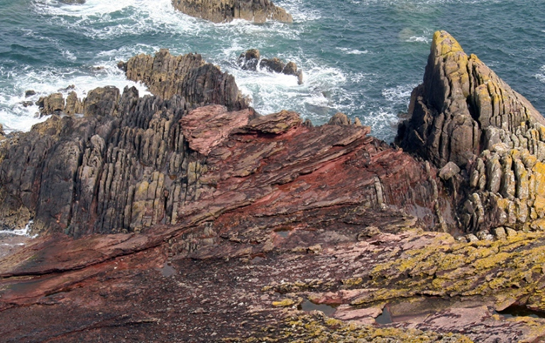 Geological formation, Siccar Point, Scotland