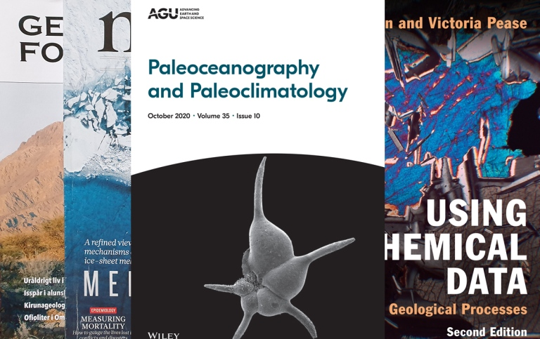 different covers of scientific journals